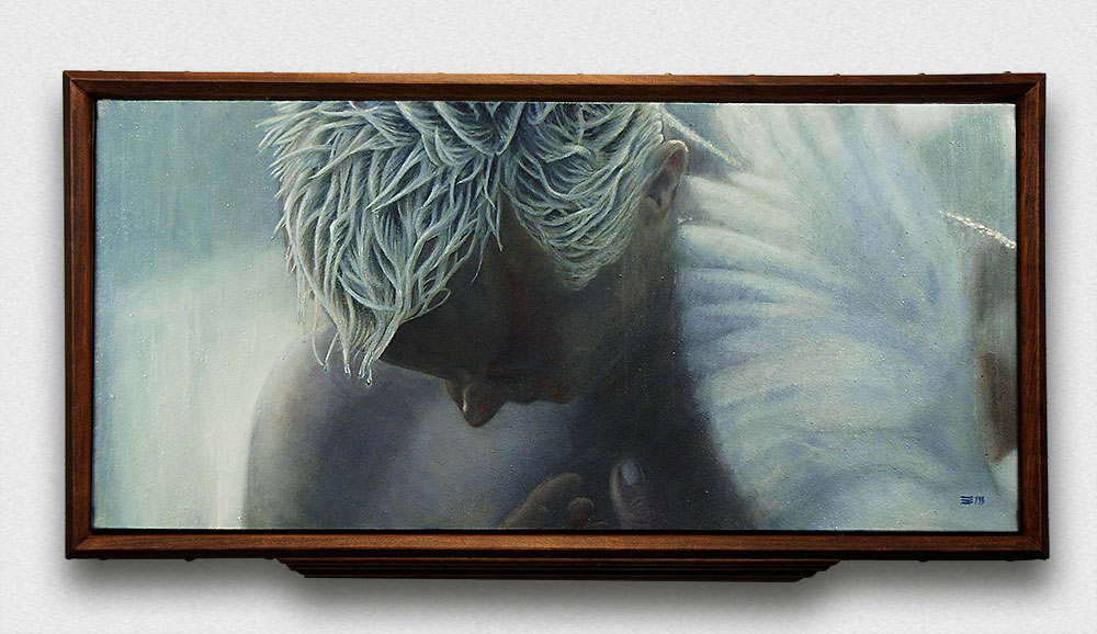 The Hero Dies Framed oil painting fine art